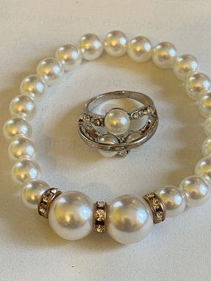 Pearl Bracelet white-silver-colored