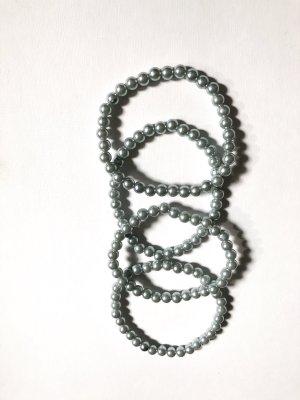 Bracelet en perles gris clair-gris