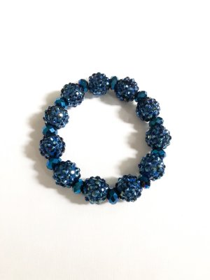 Perlen Armband Shamballa blau