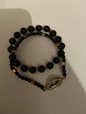 Pearl Bracelet gold-colored-black