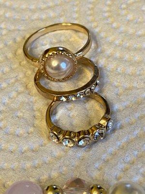 Perlen Armband vintage Ring gr 15/53 neu