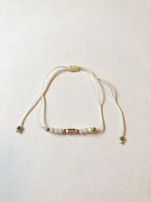 Perlen Armband weiß