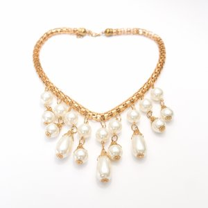 Vintage Collier bianco-oro