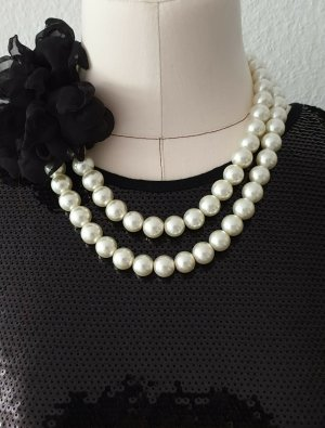 Hallhuber Collar estilo collier blanco