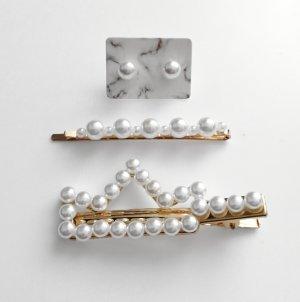 Perlen Haarspangen Schmuck Set Neu