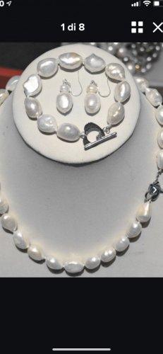 Perlen Halskette Armband Ohrringe neu