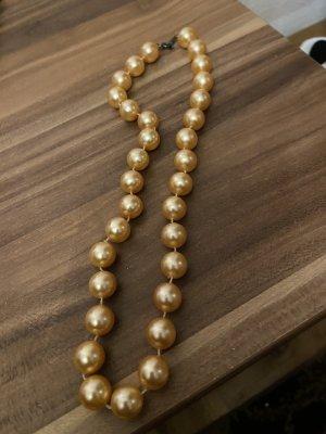 Collana di perle bronzo-marrone