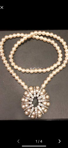 Pearl Necklace white-silver-colored