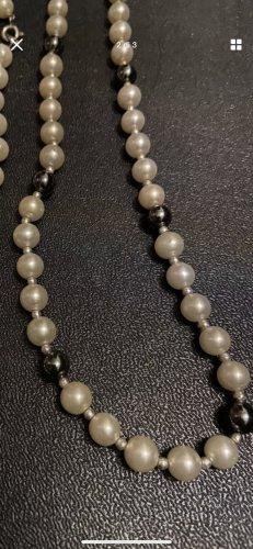 Perlen Halskette Onyx Steine