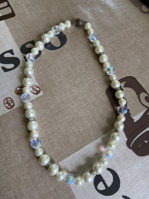 Pearl Necklace white-cornflower blue