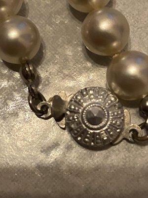 Pearl Necklace silver-colored-cream