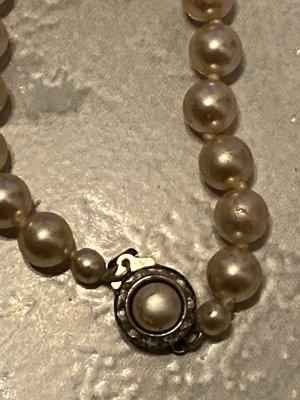 Pearl Necklace cream-silver-colored