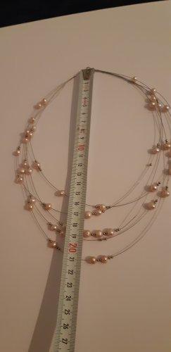 Perlen Halsreif mit Silber
