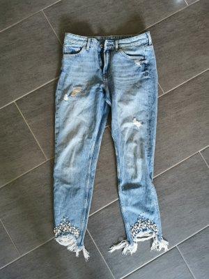 H&M Jeansy z prostymi nogawkami niebieski