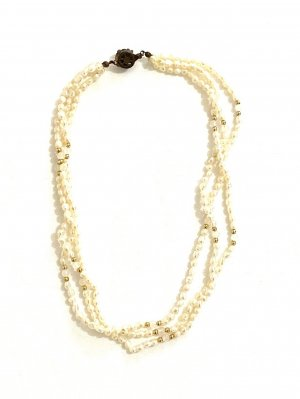 Vintage Collier de perles multicolore