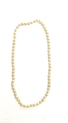 Vintage Collier de perles blanc cassé-beige clair