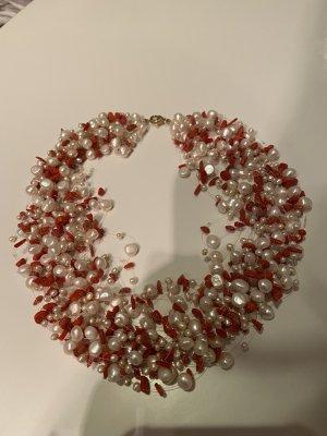 Juwelier Collier Necklace orange-white