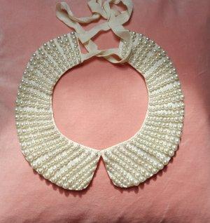 Hallhuber Collar estilo collier blanco-blanco puro tejido mezclado