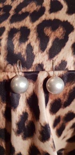 Pareloorbellen wit-zilver