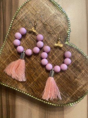 Orecchino di perle color oro rosa