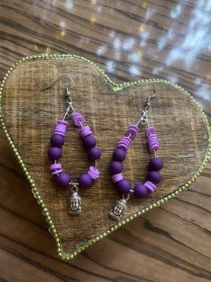 Orecchino di perle argento-lilla