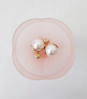 Orecchino di perle multicolore