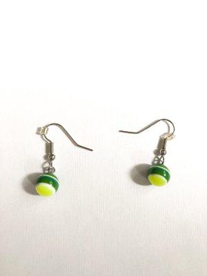 Perlen Ohrringe grün gelb