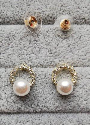Pendientes de perlas multicolor