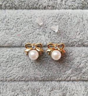 Perlen Ohrringe Schleife Bow