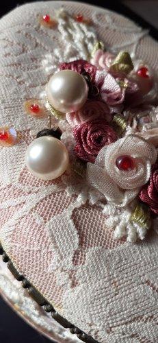 ⚜⚜⚜ Perlen Ohrstecker  weisse Perle