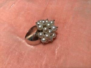 Perlen Ring 925 Silber