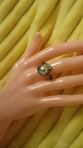 Perlen Ring  mit Zirkonia Gr.18