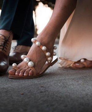 Perlen Sandalette Must have