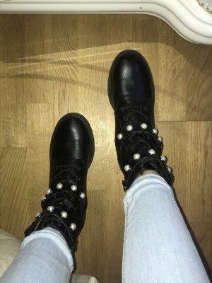Star Collection Aanrijg laarzen zwart-wit