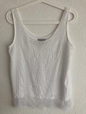 H&M Top na ramiączkach biały