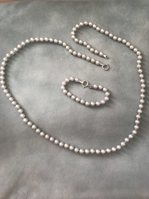 Pierre Lang Pearl Necklace silver-colored-light grey