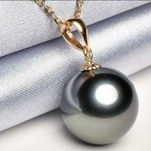 Perlenanhänger schwarz best Qualität ohne kette Neu