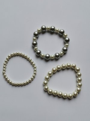 unbranded Pearl Bracelet white-silver-colored