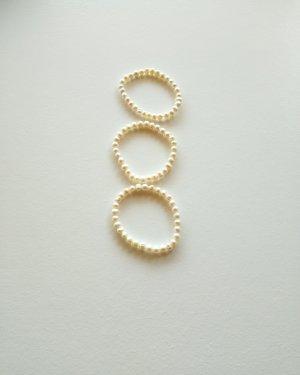 Bracciale di perle crema