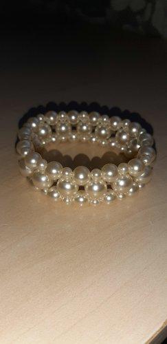 Bracelet en perles blanc-blanc cassé