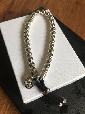 Bracciale di perle argento-nero