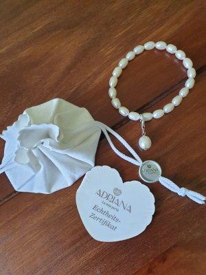 adriana Brazalete de perlas blanco
