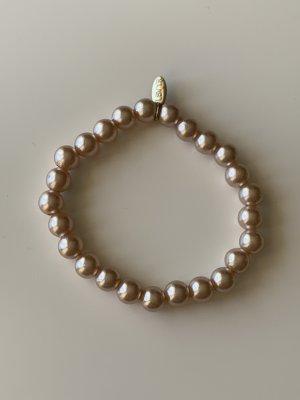 lbvyr Brazalete de perlas multicolor