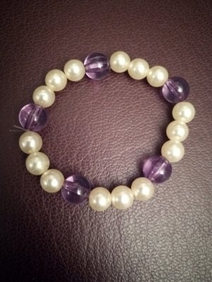 Bracelet natural white-lilac