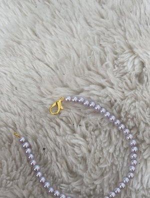 Handmade Bransoletki z perłami jasny fiolet