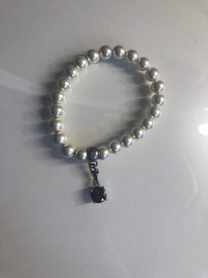 mangoon Bracelet en perles blanc-blanc cassé