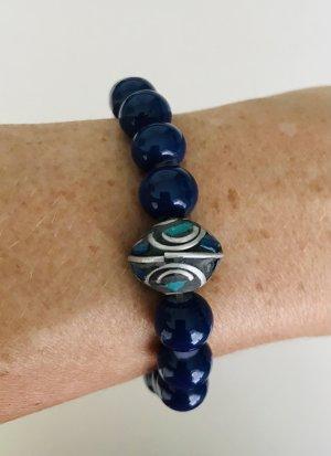Armband met parels blauw