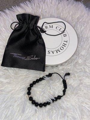 Thomas Sabo Brazalete de perlas negro