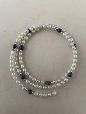Braccialetto bianco-blu