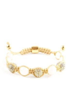 Armband met parels goud-wit casual uitstraling